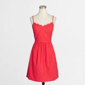 J CREW scalloped cami dress 12